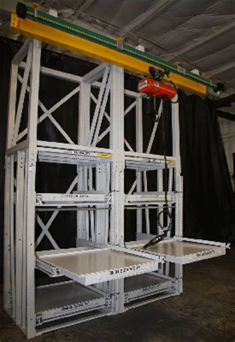 Roll Out Shelf Racks by New Roll Out Shelving Racks With Hoist System