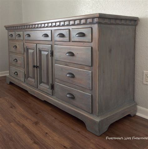 gray dresser set for this finished i used rust oleum weathered gray stain