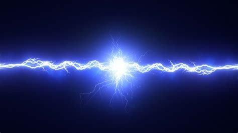 Electric Arc On Black Background by kastomazer VideoHive