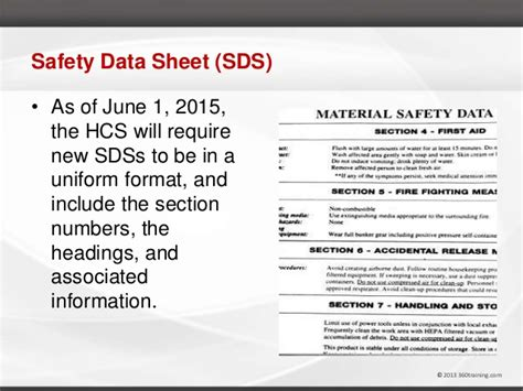 Osha And Ghs Hazcom Training Webinar With Marie Athey Osha Sds Template