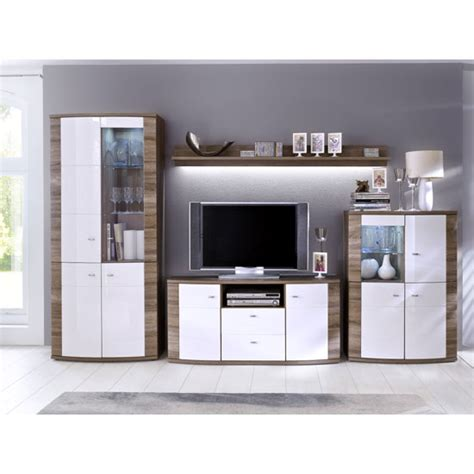 Kaunas Living Room Furniture Set In White Gloss Front And White Gloss Furniture Living Room