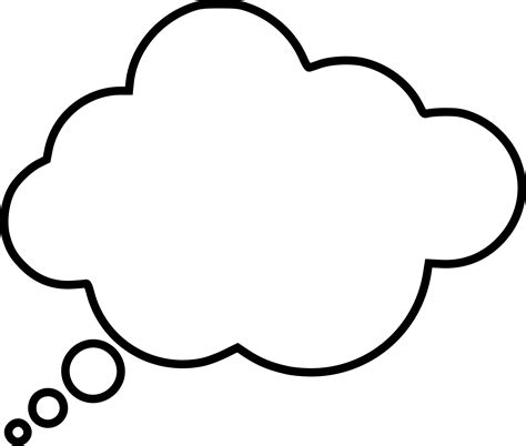 Thinking Outline by Clipart Thought