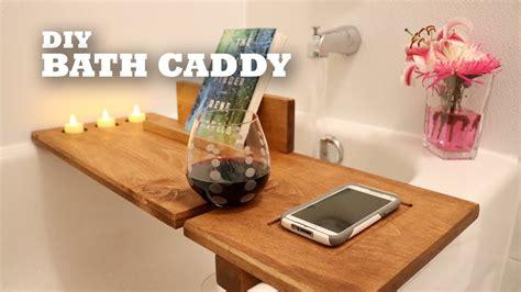 diy bath caddy youtube