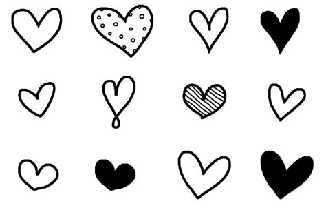 free doodle hearts a creative cookie free doodle clip