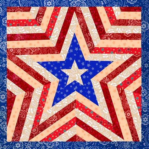 Americana Quilt by You To See One Americana Mini Quilt By Cyrille