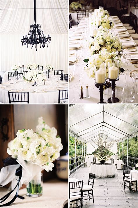 picture of awesome ideas for a black and white wedding