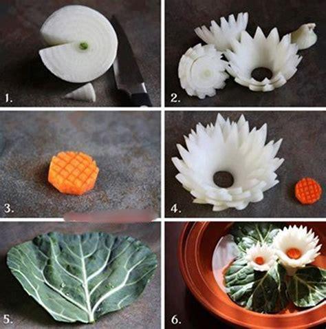 diy flower food wonderful diy beautiful lotus flower from onion
