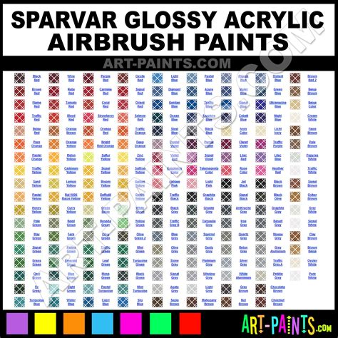 sparvar glossy acrylic airbrush spray paint colors sparvar glossy acrylic spray paint colors
