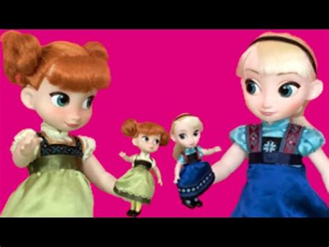 elsa and anna doll house frozen mini doll movie disney princesses elsa and anna toys in dolls house
