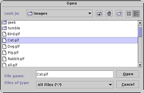java swing open file how to use file choosers