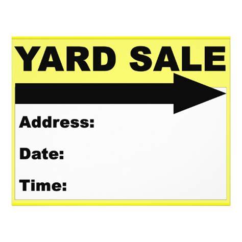 Yard Sale Flyer Sign Zazzle Garage Sale Sign Template Word