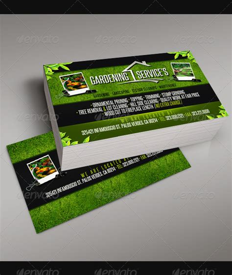 gardening business cards templates gardening business cards templates images business cards
