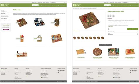 lipper home goods website design digital marketing