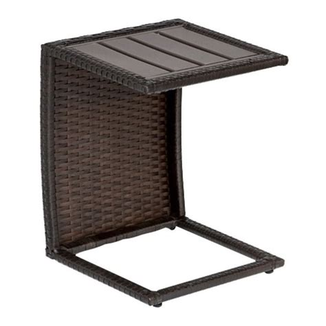 Outdoor Patio Side Table Tkc Outdoor Wicker Side Table In Espresso Tkc206b St