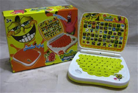 Murah Mini Laptop 4 Bahasa Spongebob mainan kereta api mainan anak edukatif umur 5 tahun