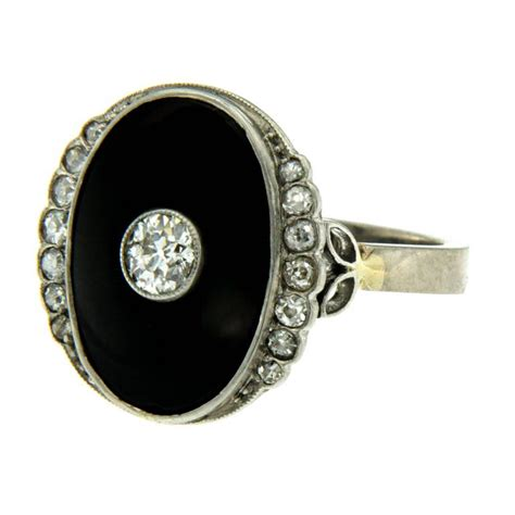 deco onyx ring deco onyx gold ring for sale at 1stdibs
