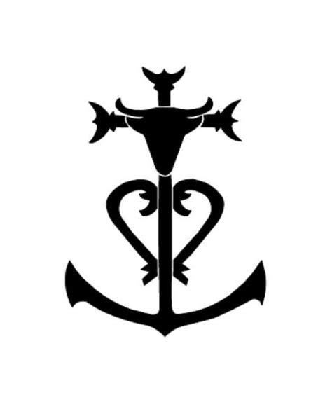 pochoir tatouage temporaire unik tattoo croix camargue