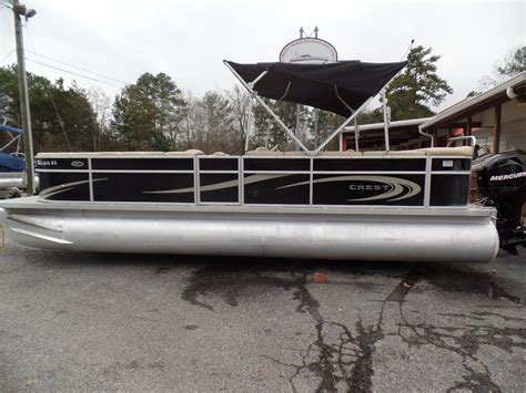 crest pontoon boat covers with snaps 2012 crest pontoons s5 25 foot 2012 boat in buford ga