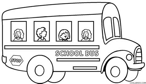 coloring page of school bus driver printable school bus coloring page for kids cool2bkids