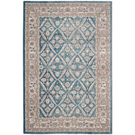 Area Rugs Blue And Beige Safavieh Sofia Blue Beige 5 Ft 1 In X 7 Ft 7 In Area Rug Sof378c 5 The Home Depot
