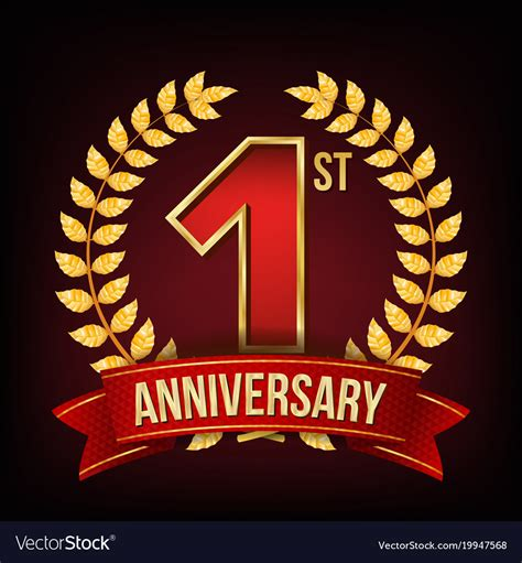 1 Year Anniversary For - 1 year anniversary banner one royalty free vector