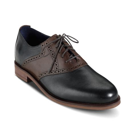 cole haan saddle shoes in black for black