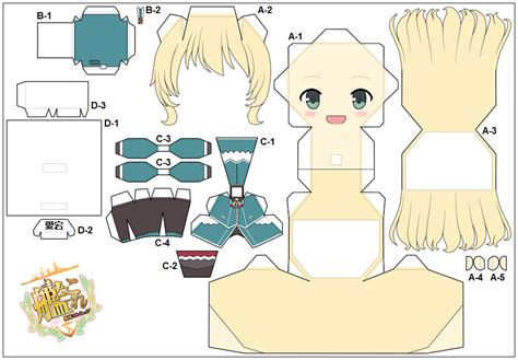Papercraft Anime Templates - chibi animal templates for crafts