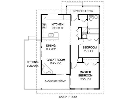 guest house floor plans small guest house plans under 1000 house plans paxton