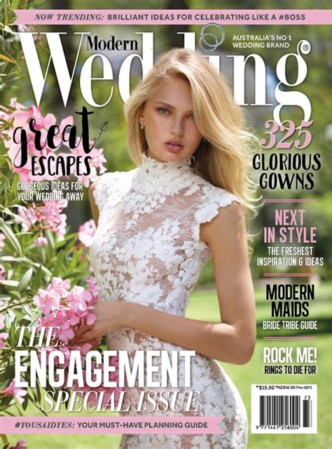wedding magazine modern wedding magazine the engagement special issue
