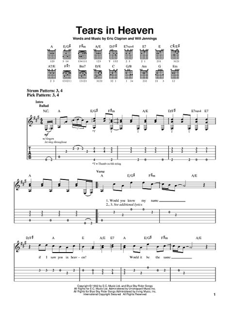 tutorial guitar tears in heaven tears in heaven sheet music music for piano and more