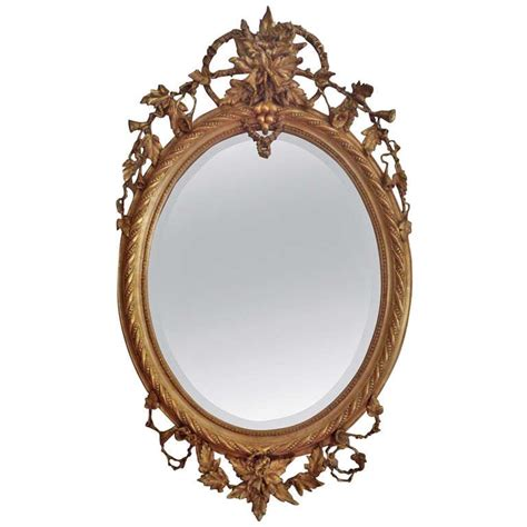 antique oval mirror at 1stdibs
