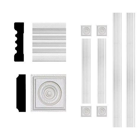 3 4 in x 3 in x 6 ft mdf fluted window casing set 4301