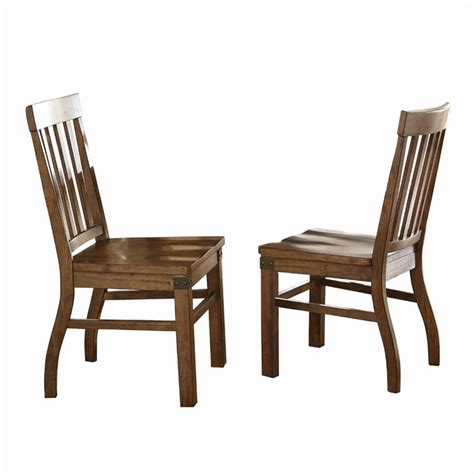 Silver Dining Chair Steve Silver Hailee Dining Chair In Distressed Antique Oak Ha450s
