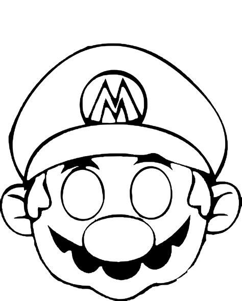 Coloriage Masque Mario 224 Imprimer Sur Coloriages Info