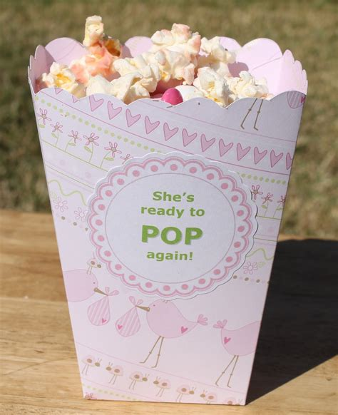 Baby Shower Popcorn Boxes by Desperate Craftwives She S Ready To Pop Baby Shower Favors