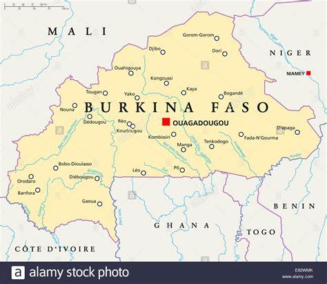 burkina faso map mapa ouagadougou