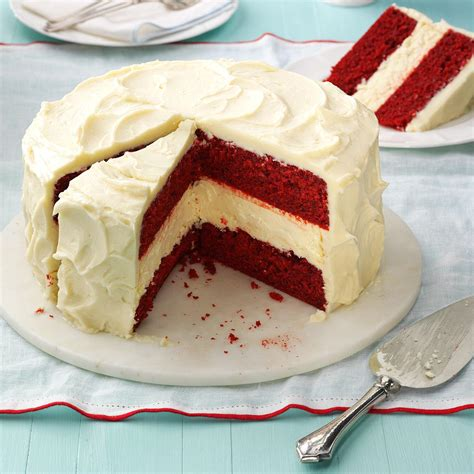 cheesecake layered red velvet cake recipe taste of home