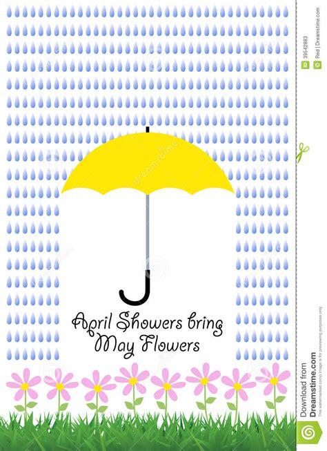 umbrella testo umbrella raindrops flowers stock illustration