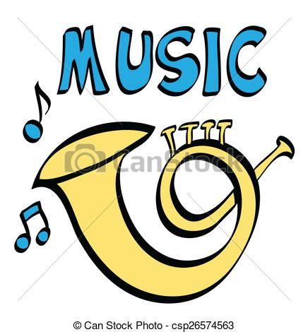 imagenes animadas musica ilustraci 243 n de archivo de trompeta m 250 sica caricatura