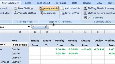retail schedule template labor scheduling template for excel retailers version