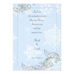 unique winter wedding invitation wording the unique wedding beautiful snowflake wedding invitations