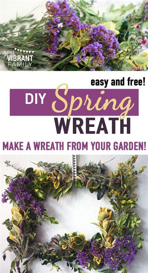 fresh spring wreath   front door