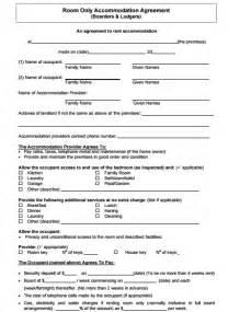 room rental agreement template simple room rental