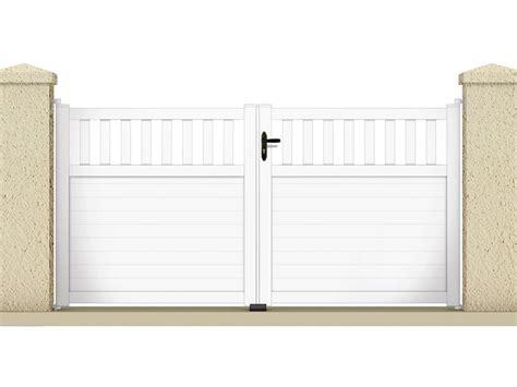 echelle de decoration 1227 portail 224 battant quot haumea quot 3 05 m pvc coloris blanc