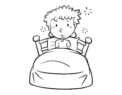 come colorare la da letto disegno di bambino a letto da colorare acolore