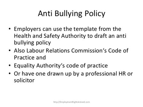 harassment and bullying policy template bullying in the workplace how to deal with bullying