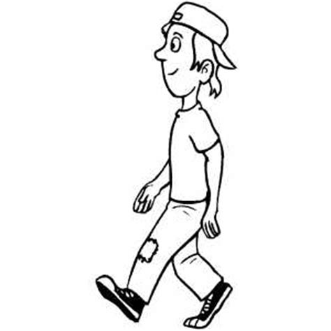 Person Walking Coloring Page | people walking carrying things coloring pages