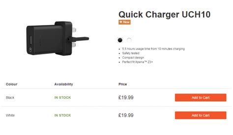 Fast Charging Charger Sony Xperia Uch10 Uch 10 Original 100 sony charger uch10 now shipping in europe xperia