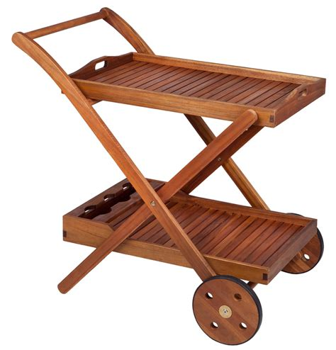 Servierwagen Holz Garten by Holz Teewagen Tablett Servierwagen Beistelltisch Rollwagen