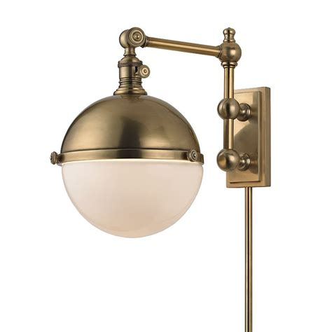 Valley Lighting by Hudson Valley Lighting 1671 Agb Aged Brass Stanley Single
